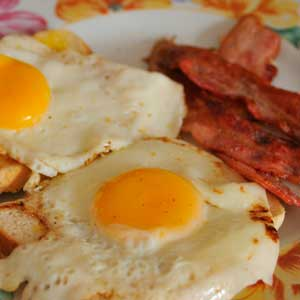 How About….   bacon and another eggs